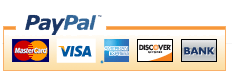We Accept Visa, Master Card, Discover, American Express, Paypal
